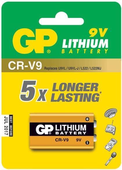 סוללת ליתיום GP 9V  CR-V9