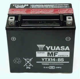 מצבר לאופנוע (ללא טיפול) YTX14-BS YUASA 12V 12AH