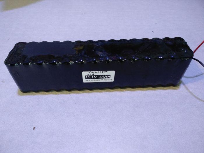 מארז סוללות ליתיום 11.1V (12V) 51AH