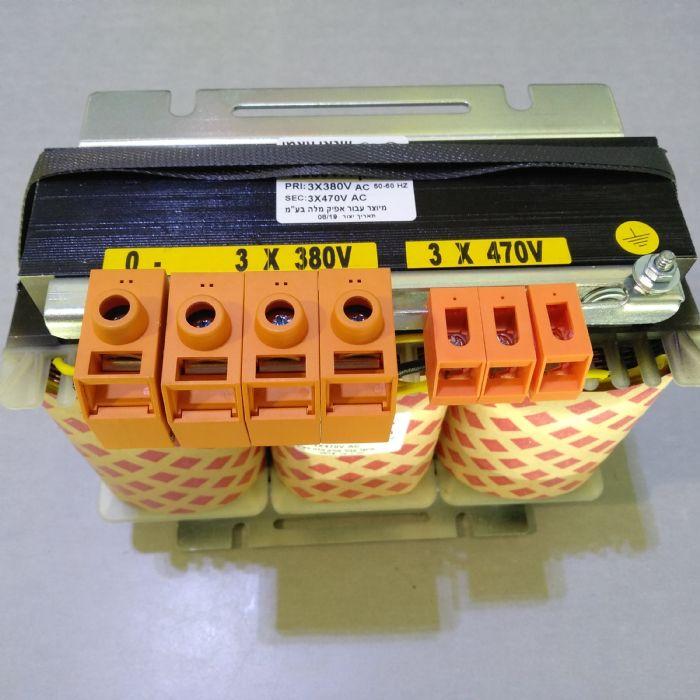 שנאי תלת פאזי 380V/470V 2KVA