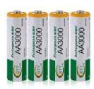 4 סוללות נטענות גודל 3000MAH NI-MH AA