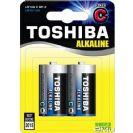 זוג סוללות אלקליין TOSHIBA LR14 גודל C