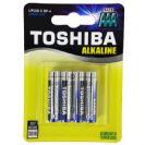 4 סוללות גודל AAA אלקליין TOSHIBA