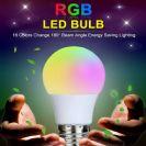 מנורת ל'ד RGB + שלט אלחוטי