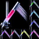 ראש טוש למקלחת עם תאורה 7 צבעים ללא סוללות