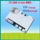 מעגל הגנה לסוללות ליתיום 24V 50A 7cell