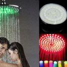 ראש טוש גדול למקלחת עם תאורה 7 צבעים ללא סוללות