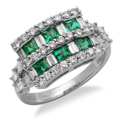 טבעת אבן חן יהלום ברקת בזהב לבן