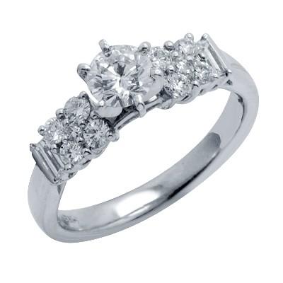 טבעת אירוסין יהלום עם פלטינה