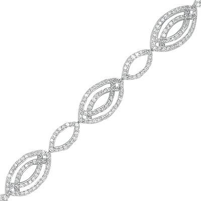 צמיד יהלומים עם זהב לבן