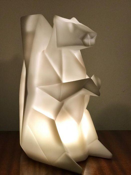 מנורת אוריגמי - סנאי