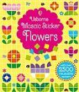 חוברת פסיפס פרחים - מדבקות רב פעמיות