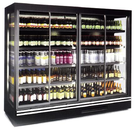 TROY - מקרר לשתיה עם דלתות זכוכית פתיחה או הזזה