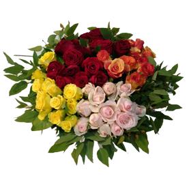 זר ורדים בפלאוור בוקס