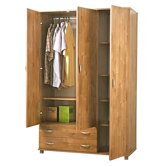 ארון בגדים 3 דלתות 607 - רהיטי יראון