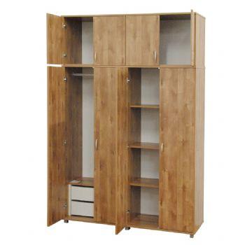ארון 4 דלתות איכותי 160 ס'מ רהיטי יראון דגם: 709+710