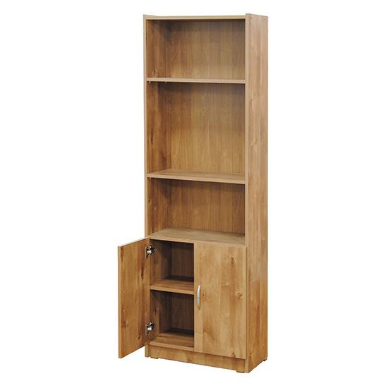 ספרייה 5 מדפים ו-2 דלתות דגם 612 רהיטי יראון