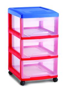 מגירות אחסון צבעוניות לילדים 3 קומות RAM