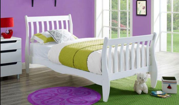מיטה מעוצבת 90*190 סמ מעץ מלא לילדים ונוער KODA