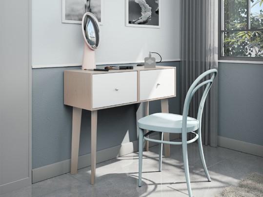 שידת עץ רב תכליתית בעיצוב חדשני, יכולה לשמש כשידת כניסה לבית וכן כשולחן איפור מעוצב-קליבלנד