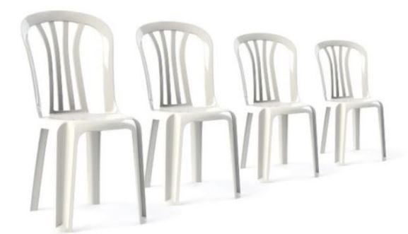 סט מבצע 4 כסאות פלסטיק - דגם ג'וי - מיוצר בישראל