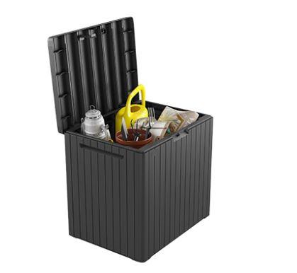 ארגז אחסון ומושב מעוצב עמיד בתנאי מזג אוויר דגם סיטי בוקס KETER