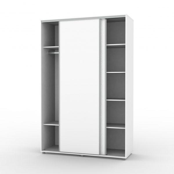 ארון הזזה 2 דלתות כולל טריקה שקטה מרובה מדפים - דגם 714