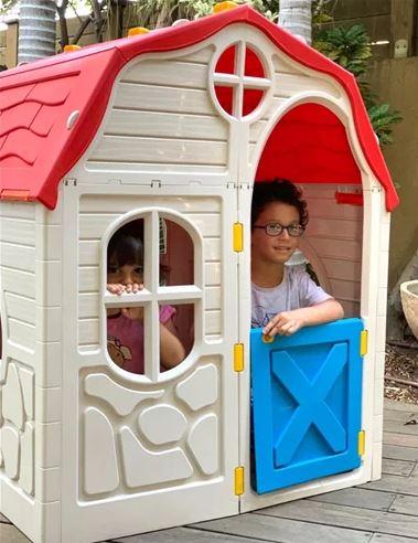 בית ילדים מתקפל מפלסטיק לבית או לחצר