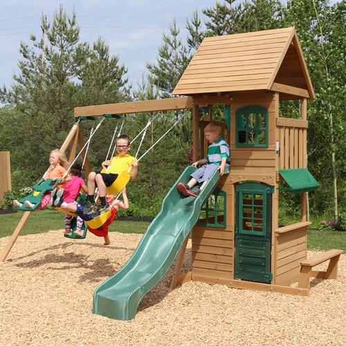 מתקן שעשועים -- ממלכת הילדים-2 נדנדות, מגלשה, בית משחק עליון ותחתון