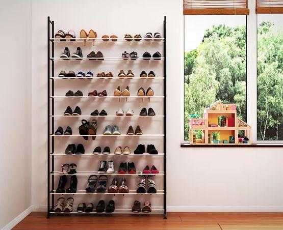 ארון נעליים מודולרי ל-50 זוגות מבית Razco ללא / כולל כיסוי אפור לבחירה