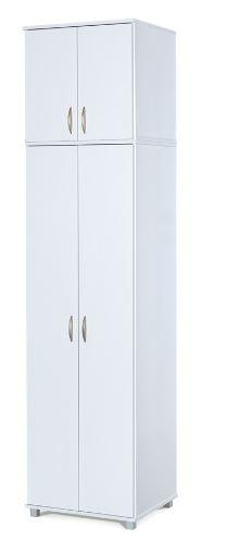 ארון תחתון 2 דלתות משולב מדפים ותליה יחד עם ארון עליון יראון 602+602E
