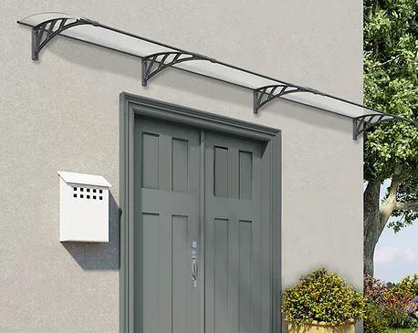 גגון ניאו 4050 כפול דופן לדלת כניסה Palram - צבע אפור