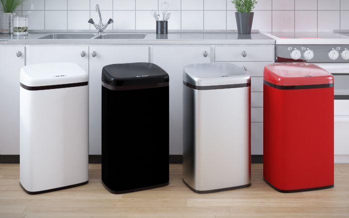 פח אשפה מלבני למטבח אוטומטי 50 ליטר נירוסטה RAZCO