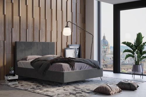 מיטה זוגית מרופדת בעיצוב נקי דגם YULI אינסטייל