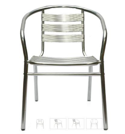 כסא אלומיניום לבית, חצר,בית קפה תוצרת ROSSO ITALY דגם MSH-3-22