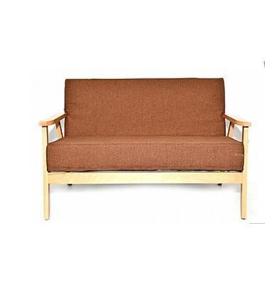 ספה מעוצבת דו מושבית מבד עם ידיות מעץ דגם MSH-11-15 מבית ROSSO ITALY