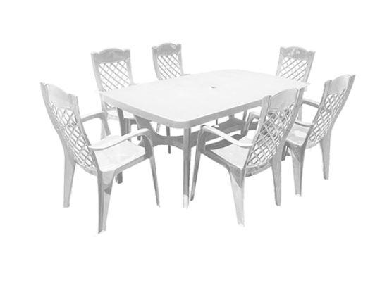סט שולחן בולטימור ו-6 כסאות לירון Baltimore Liron Set ירוק