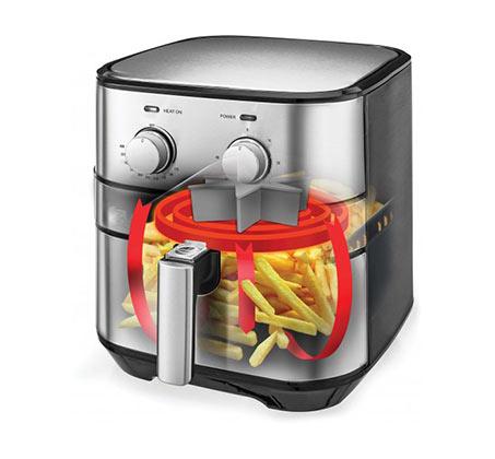 מכשיר טיגון Selmor ללא שמן בנפח 5 ליטר להכנת מאכלים בריאים 1500W דגם SE-824