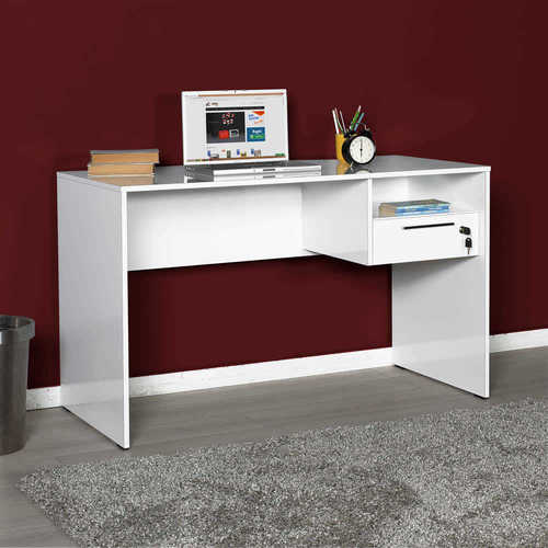 שולחן מחשב איכותי דגם דנה לבן ראמוס