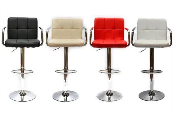 זוג כיסאות בר דגם MSH-3-5P בלי ריפוד בידיות מבית ROSSO ITALY