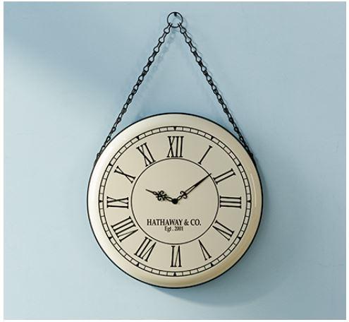 שעון קיר במראה וינטג' דגם מונטנה