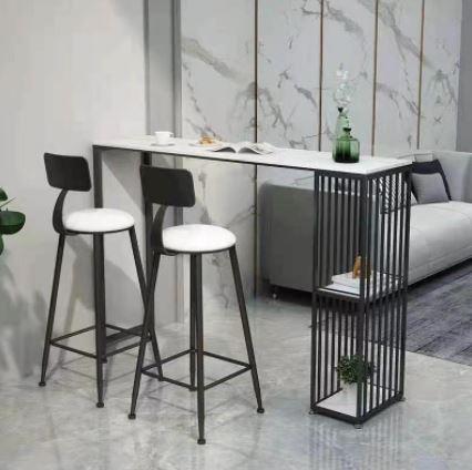 שולחן לאי מטבח ממתכת מעוצבת ושיש יוקרתי ללא כסאות דגם MSH-2-91A סדרה יוקרתית מבית ROSSO ITALY