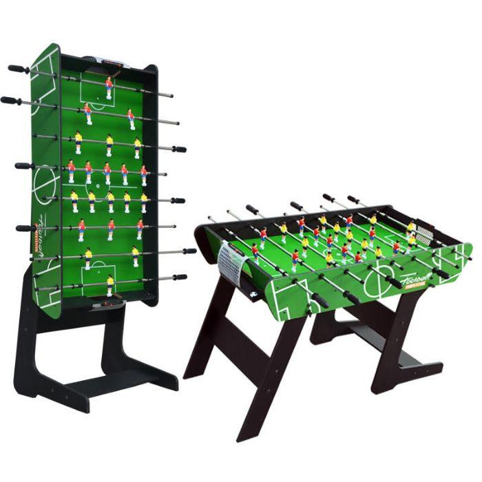 שולחן כדורגל ענק מתקפל איכותי ופרקטי באורך 1.19 מטר דגם TAL-1-12 מבית ROSSO ITALY