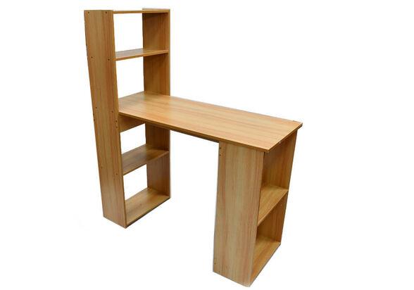שולחן מחשב מפואר כולל ספרייה MSH-1-38 מעץ מבית ROSSO ITALY רוחב 1 מטר