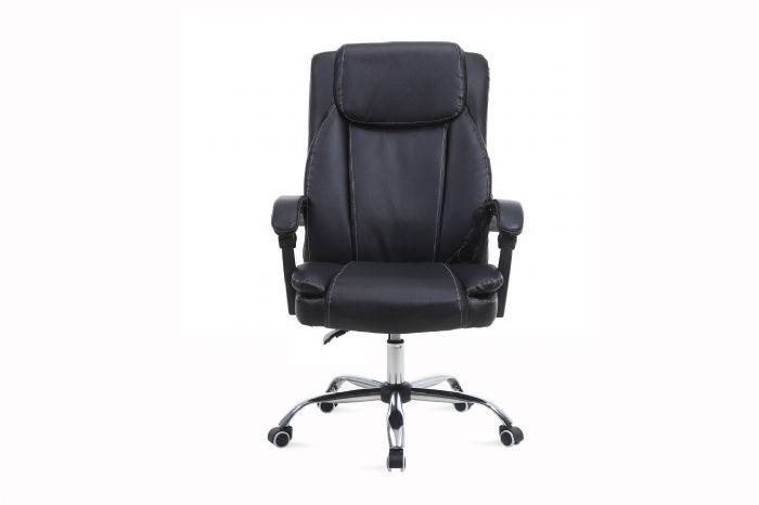 כסא מנהל אורטופדי איכותי ומפנק כולל מסאג רטט דגם MSH-3-62 מבית ROSSO ITALY בצבע שחור