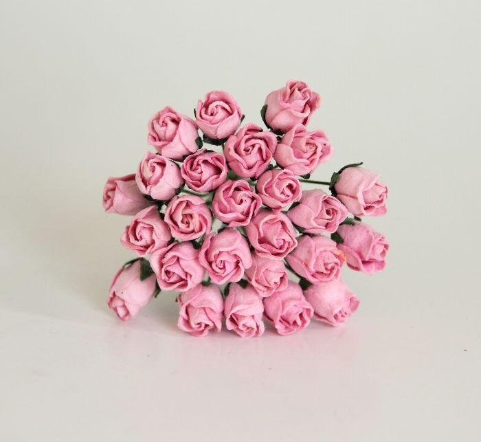ורד קטן חצי פתוח -ורוד- 10 פרחים
