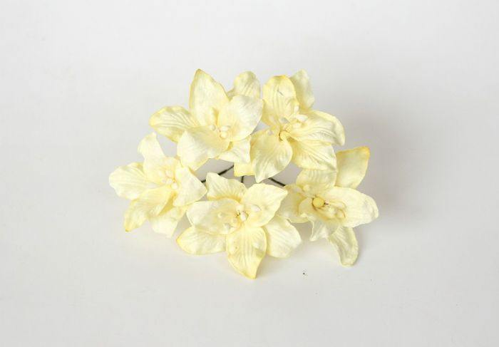 ליליות - צהוב בהיר- 5 פרחים