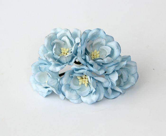 מגנוליה - תכלת בהיר- 5 פרחים