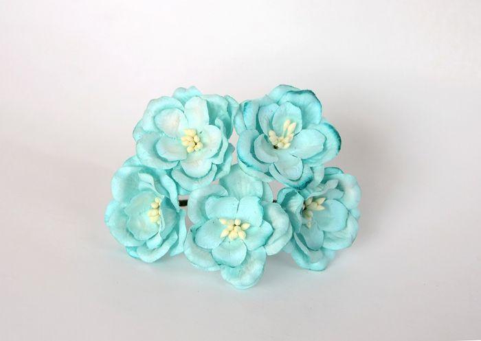 מגנוליה - טורקיז- 5 פרחים