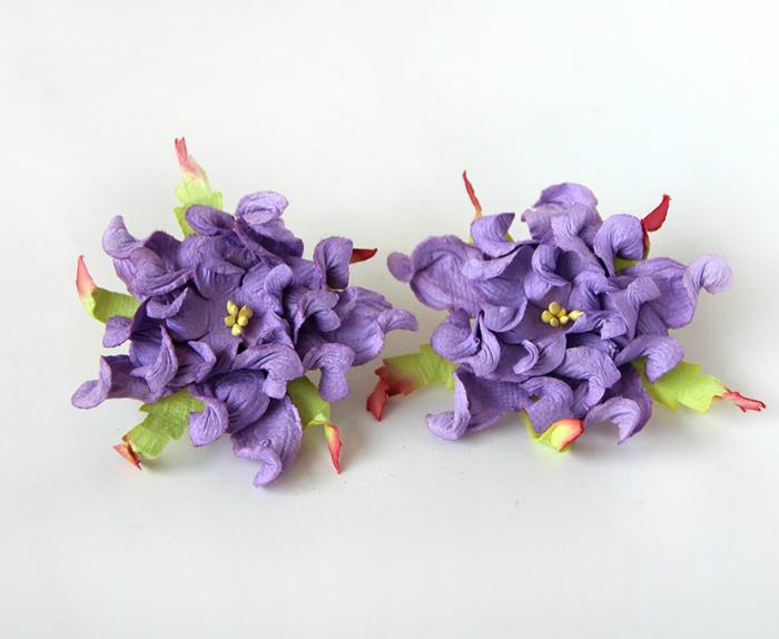 """גרדניה 7ס""""מ - סגול- 4 פרחים"""